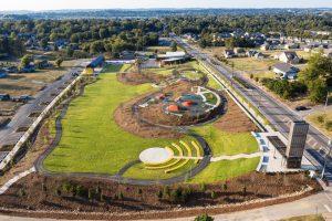 Aerial view of One Pratt Park